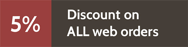 5% Discount on ALL web orders