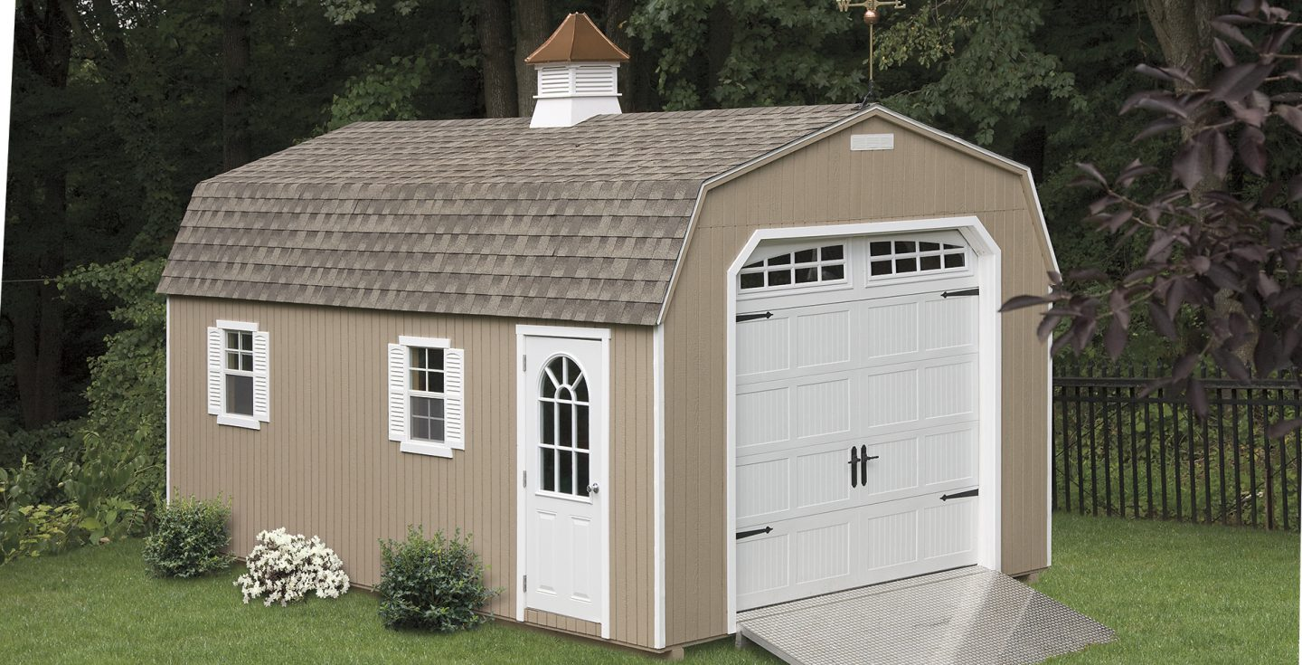 tan vinyl high wall dutch garage