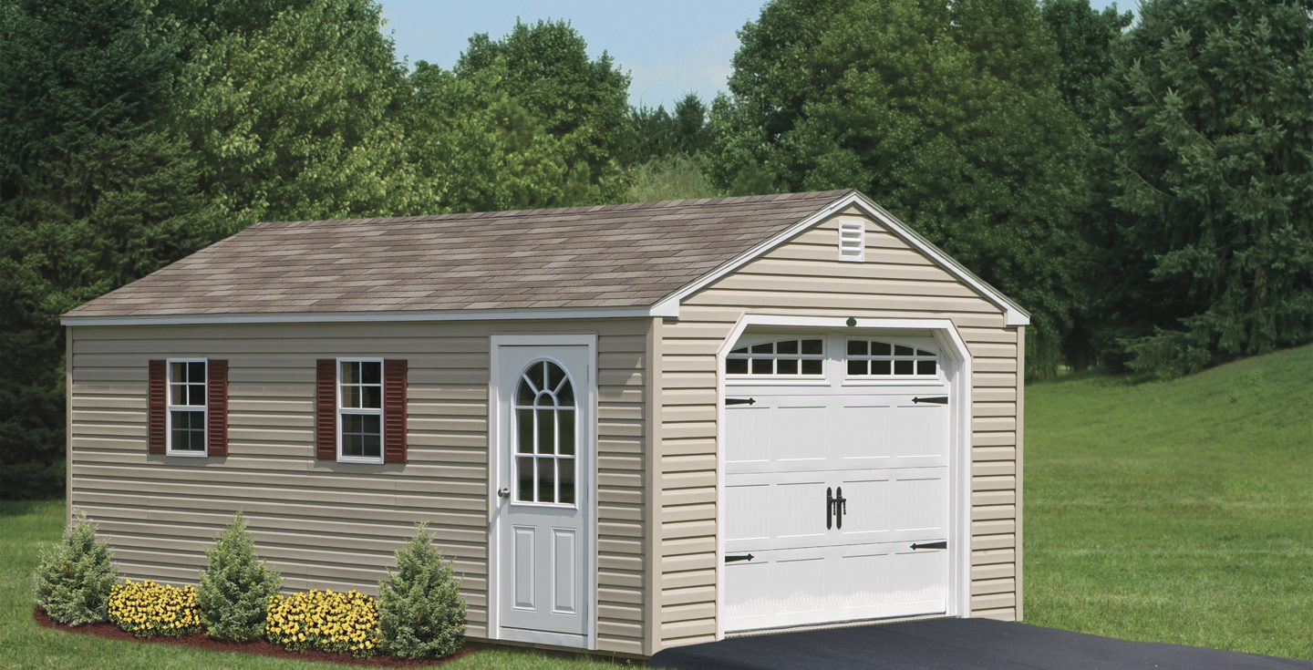 for prefabricated vinyl on barn dutch maryland garage frederick garages sale