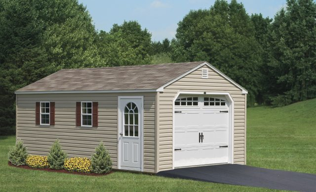 Custom Amish Built Garage Storage | 2 Car Garage | Double