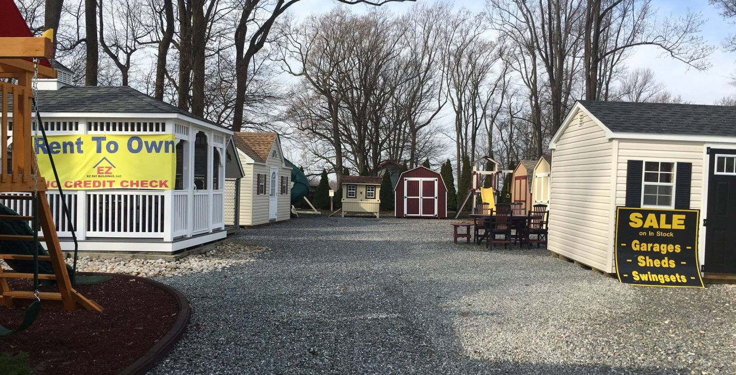 different sheds, playhouses, and sheds on amish backyard structures property
