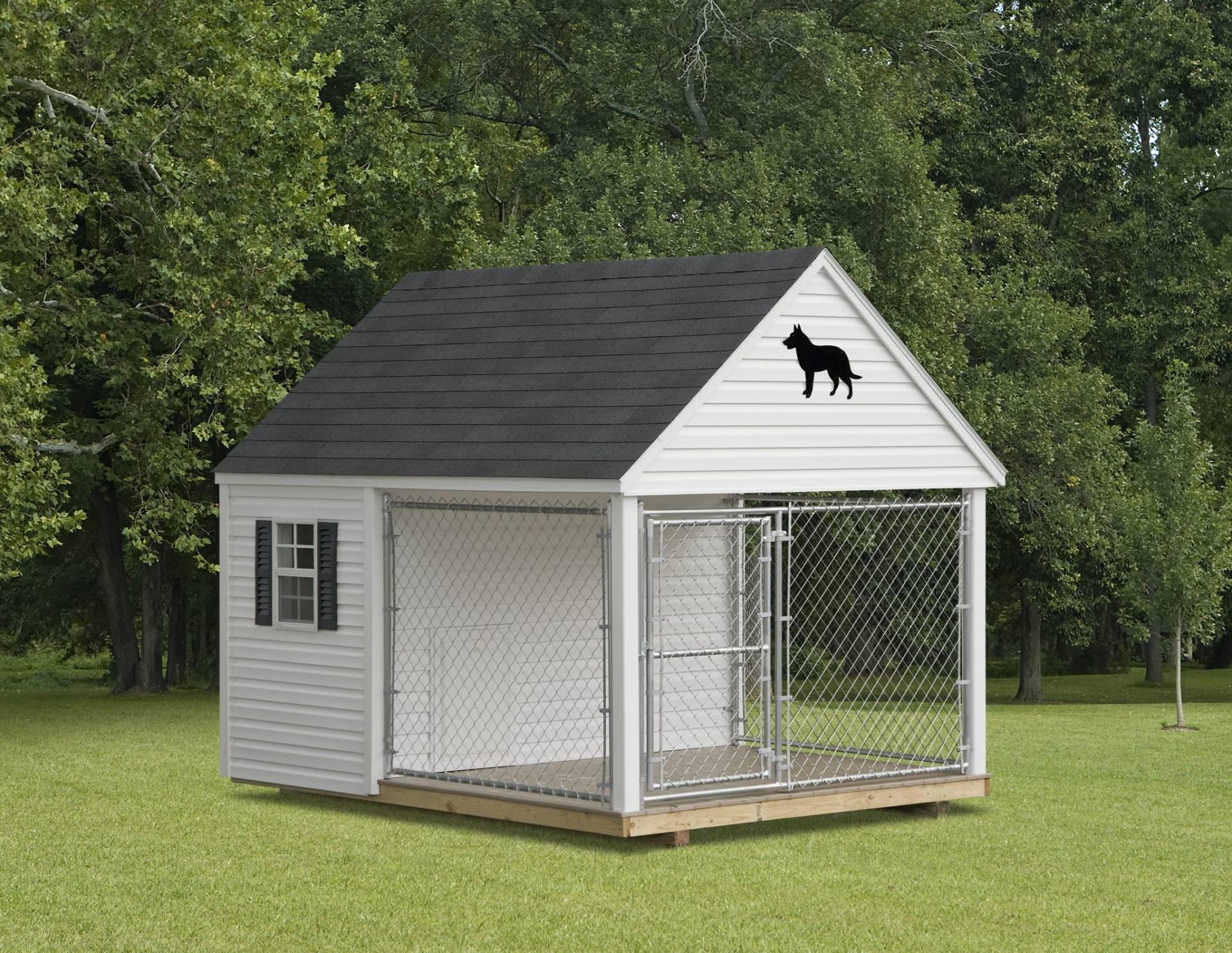 Dog Kennel Vinyl Amish Backyard