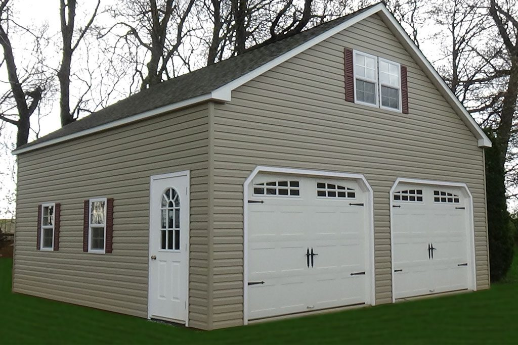 2-Story Double Wide Garage – Vinyl