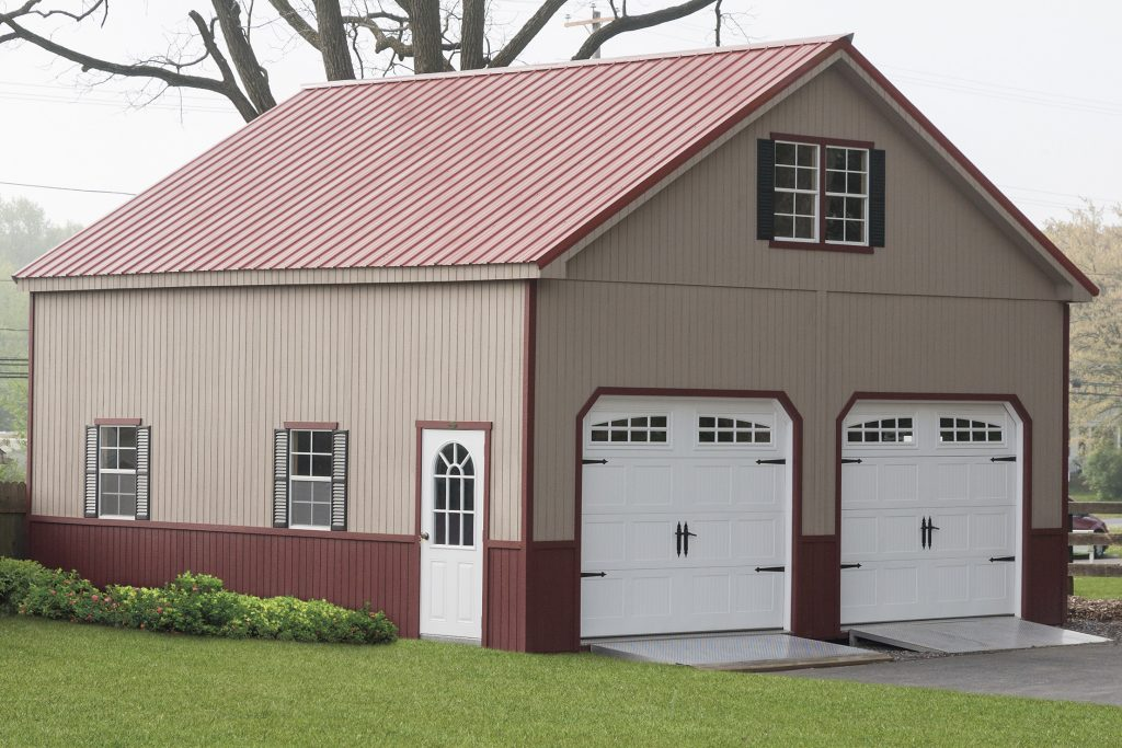 2-Story Double Wide Garage – Wood