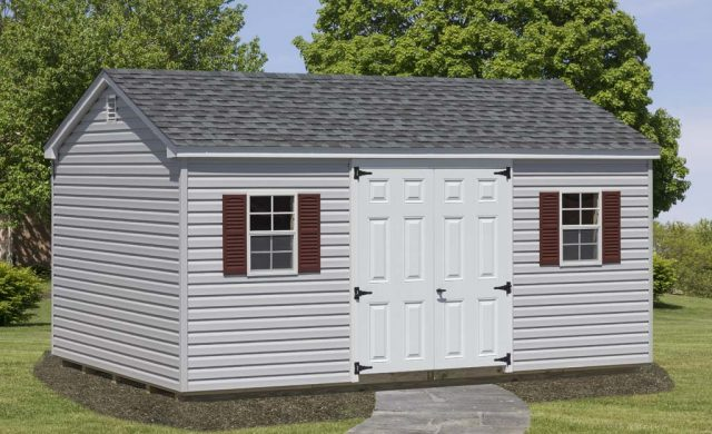 gray a frame customized shed