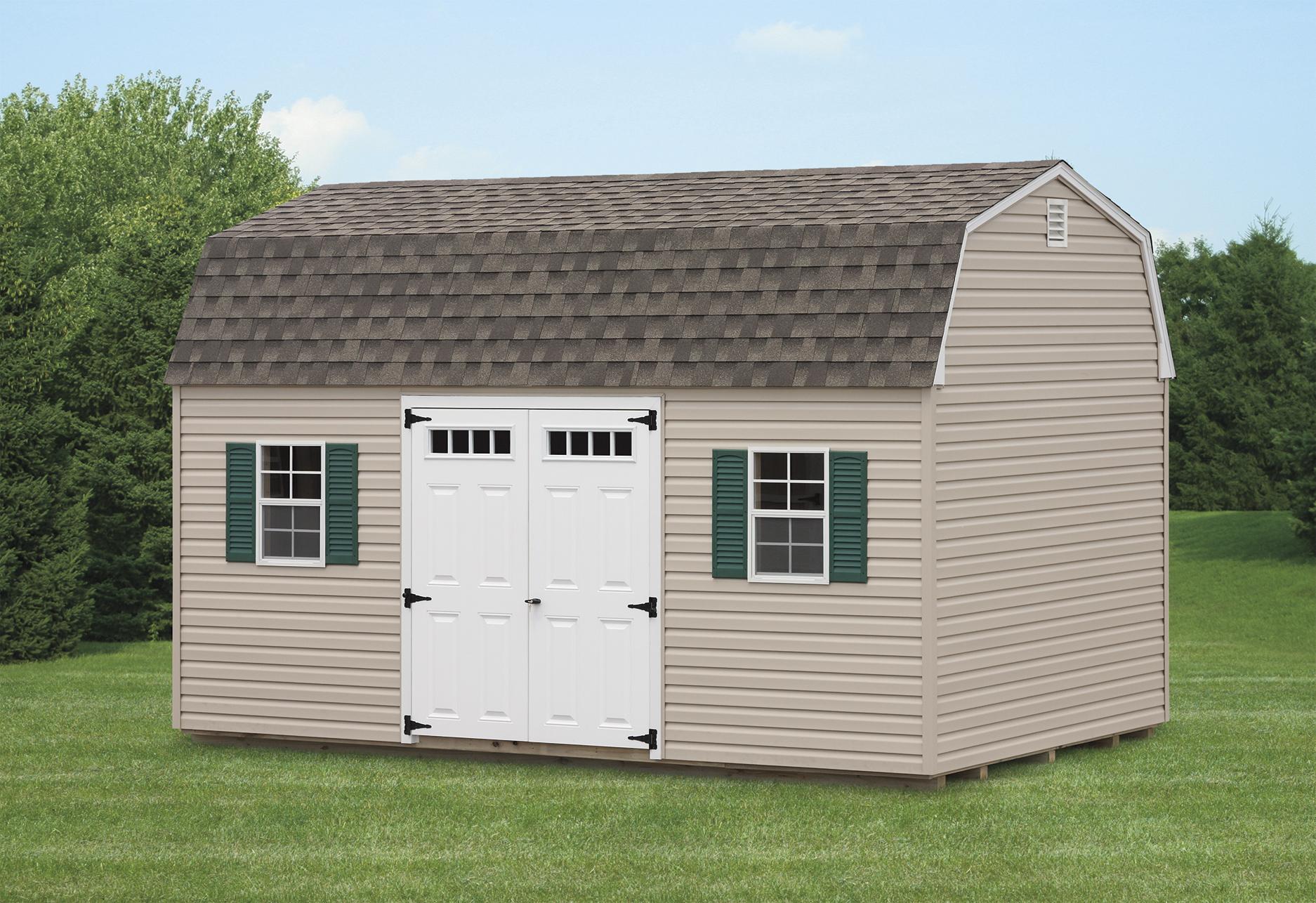 Economy Dutch Barn Vinyl Amish Backyard Structures