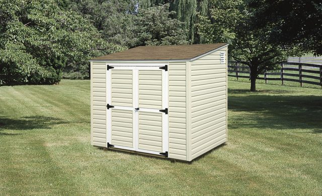 vinyl-lean-to-shed