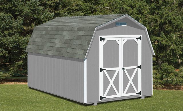 gray residential storage shed