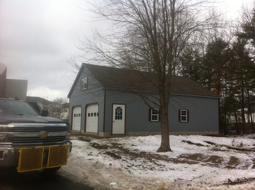 2 Story Double Wide Garage Wood Amish Backyard Structures